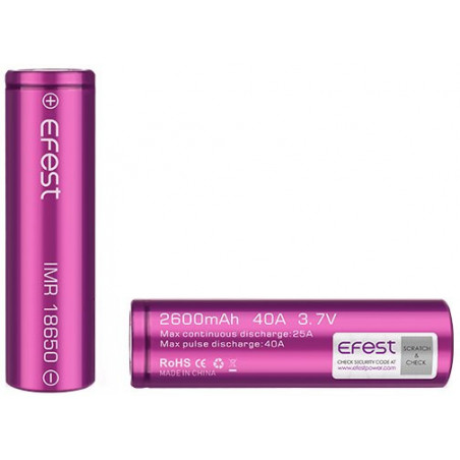 Efest baterie typ 18650 2600mAh 40A